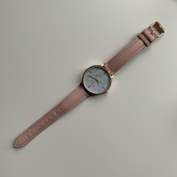 Pink stainless steel accessorie watch